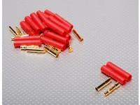 HXT 4мм Золотой разъем ж / протектор (10шт / комплект)