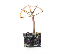 Adjustable Power 25mW / 200mW 5.8GHz 48CH NTSC/PAL Mini VTX FPV Camera Combo (Cloverleaf Antenna)