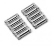 Легкий алюминиевый круглого сечения Spacer M3x17mm (серебро) (10шт)