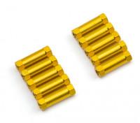 Легкий алюминиевый Круглый Раздел Spacer M3x17mm (золото) (10шт)