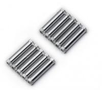 Легкий алюминиевый круглого сечения Spacer M3x25mm (серебро) (10шт)