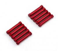 Легкий алюминиевый Круглый Раздел Spacer M3x26mm (красный) (10шт)