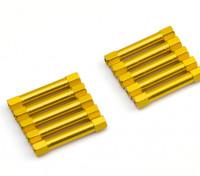 Легкий алюминиевый Круглый Раздел Spacer M3x30mm (золото) (10шт)