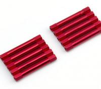 Легкий алюминиевый Круглый Раздел Spacer M3x37mm (красный) (10шт)