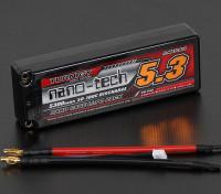Turnigy нано-технологий 5300mah 2S2P 50 ~ 100C Hardcase Липо пакет