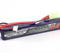 Turnigy нано-технологий 1400mAh 2S 15 ~ 25C Lipo AIRSOFT пакет