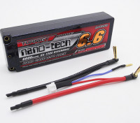Turnigy нано-технологий 6600mAh 2S2P 65 ~ 130C Hardcase Липо пакет