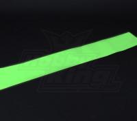 Люминесцентные (светятся в темноте) самоклеющиеся пленки (зеленый) - 1200мм х 200 мм