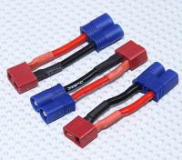 EC3 к переходнике T-разъем батареи (3шт / мешок)