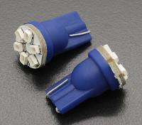 Мозоли СИД Свет 12V 0.9W (6 LED) - Синий (2 шт)