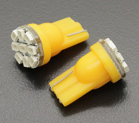 Мозоли СИД Свет 12V 1.35W (9 LED) - желтый (2 шт)