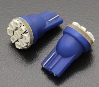 Мозоли СИД Свет 12V 1.35W (9 светодиодов) - Синий (2 шт)