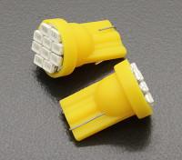 Мозоли СИД Свет 12V 1.5W (10 LED) - желтый (2 шт)