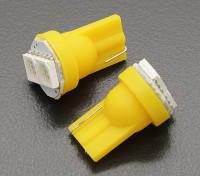 Мозоли СИД Свет 12V 0.4W (2 LED) - желтый (2 шт)