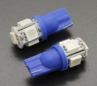 Мозоли СИД Свет 12V 1.0W (5 LED) - Синий (2 шт)
