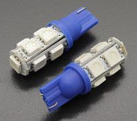 Мозоли СИД Свет 12V 1.8W (9 светодиодов) - Синий (2 шт)