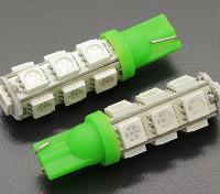 Мозоли СИД Свет 12V 2.6W (13 LED) - зеленый (2 шт)