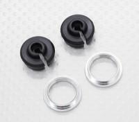 Нижний Shock держатель и отрегулируйте кольцо - 1/10 Quanum Вандал 4WD Гонки Багги (2sets)