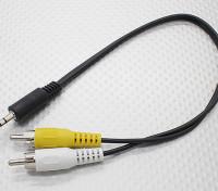3,5 мм для Мужской Mono RCA A / V Заглушки Адаптер Lead (300мм)