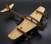 Военный истребитель Бомбардировщик Лазерная резка Вуд модель (KIT)