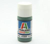 Italeri Акриловая краска - Плоский Евро 1 Темно-зеленый