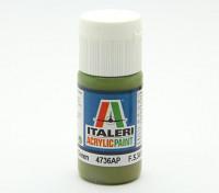 Italeri Акриловая краска - Плоский интерьер Зеленый