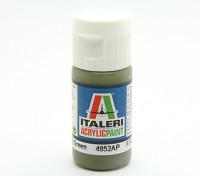 Italeri Акриловая краска - Плоский Военный Зеленый