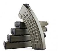 King Arms 600rounds Вафельные шаблонных журналы для Marui AK AEG (оливковый, 5шт / коробка)