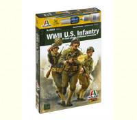 Italeri 1/56 Масштаб WWll США пехотная Военные Рисунок Kit