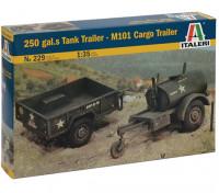 Italeri 1/35 Scale 250 Галлон Прицеп-цистерна - M101 грузовой трейлер Model Kit