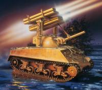 Italeri 1/35 Масштаб M4A3 Sherman Каллиоп автомобиля Model Kit