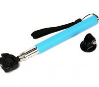 Монопольный Действие Cam Extension (селфи Стик) 200 ~ 1070mm ж / адаптер синий