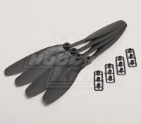 GWS Стиль Slowfly Пропеллер 8x4.5 черный (CW) (4шт)