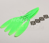 GWS Стиль Slowfly пропеллер 11x4.7 Зеленый (CW) (4шт)