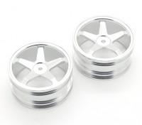 GPM Гонки Kyosho Mini Inferno F / R Плоские диски (5) Столбы (серебро) (1pr)
