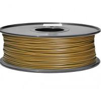 HobbyKing 3D Волокно Принтер 1.75mm PLA 1KG золотника (желтый)
