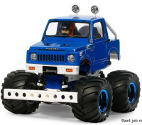 Tamiya 1/10 Масштаб Suzuki Jimny (SJ30) Wheelie Kit Синий Стиль 58576