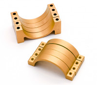 Золото анодированный CNC полукруг сплава пробки Зажим (incl.screws) 20мм