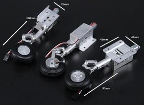Turnigy Full Metal Servoless втянутых с Oleo ног и тормозной системой (костюмы 90мм Hawk и L-59)