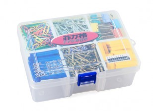 Medium 6 Compartment Parts Box with Latching Lid