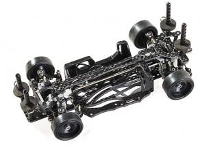 SinoHobby Mini-Q 1/28 RC Race/Drift Car Frame (pre-assembled) - top view