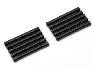 Легкий алюминиевый круглого сечения Spacer M3x45mm (черный) (10шт)