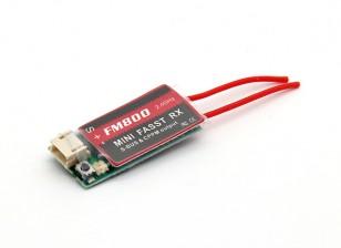 FM800 Super Mini FASST Совместимость с 8-канальный приемник SBUS / CPPM