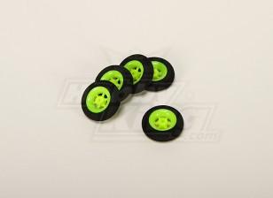 Суперлегкость 5 спицевые колеса D30x9mm (5pcs / мешок)