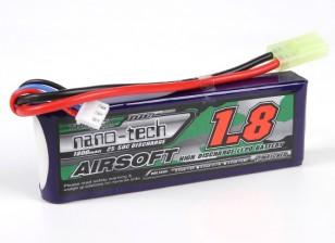 Turnigy нано-технологий 1800mAh 2S 25 ~ 50C Lipo AIRSOFT пакет