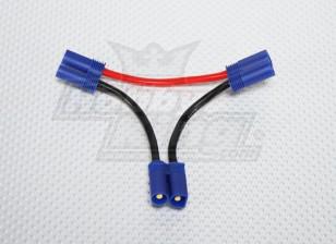 EC5 батареи жгута проводов 12AWG для 2-х пачек в серии