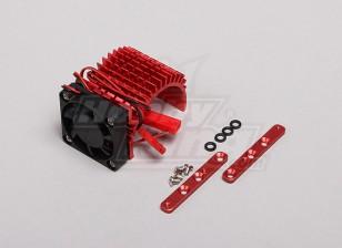 Красный алюминиевый радиатор двигателя ж / регулируемый вентилятор (сторона) 36мм Inrunner