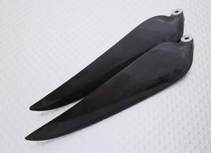 Раскладной углерода Заряженный Propeller 11x8 черный (КОО) (1шт)