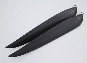 Раскладной углерода Заряженный Propeller 13x8 черный (КОО) (1шт)
