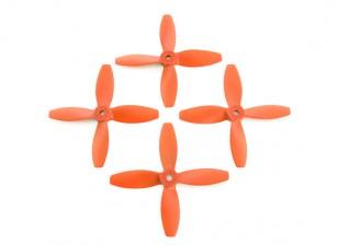 Lumenier FPV Гонки пропеллеры 4040 4-Blade Оранжевый (CW / CCW) (2 пары)